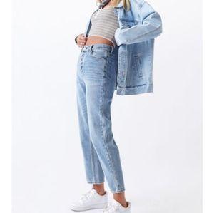EUC PacSun Light Wash High Rise Straight Jeans